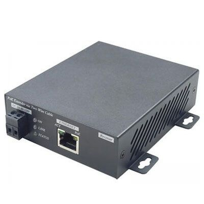 IP03P PoE Extender is designed to send and extend Ethernet network with PoE can be established using existing cables up to 600M.